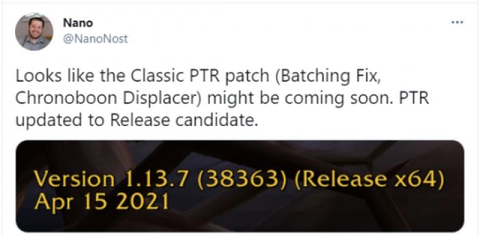 TBC测试服更名为正式服版本
